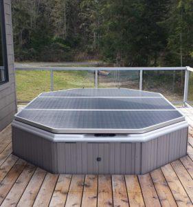 multi panel unusual shape spa cover charcoal